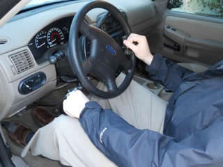 Hand-control adapted Car and Driver